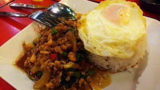 ジャンクセイロン内のフードコートのSIAM THAI FOODのガパオライス