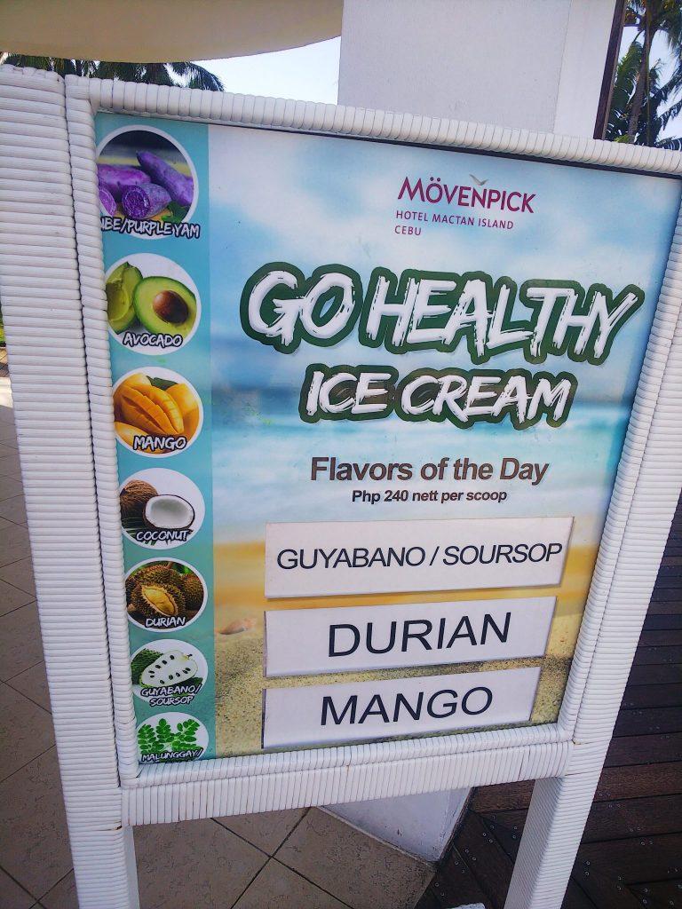 モーベンピックホテルのビーチサイドのアイス2